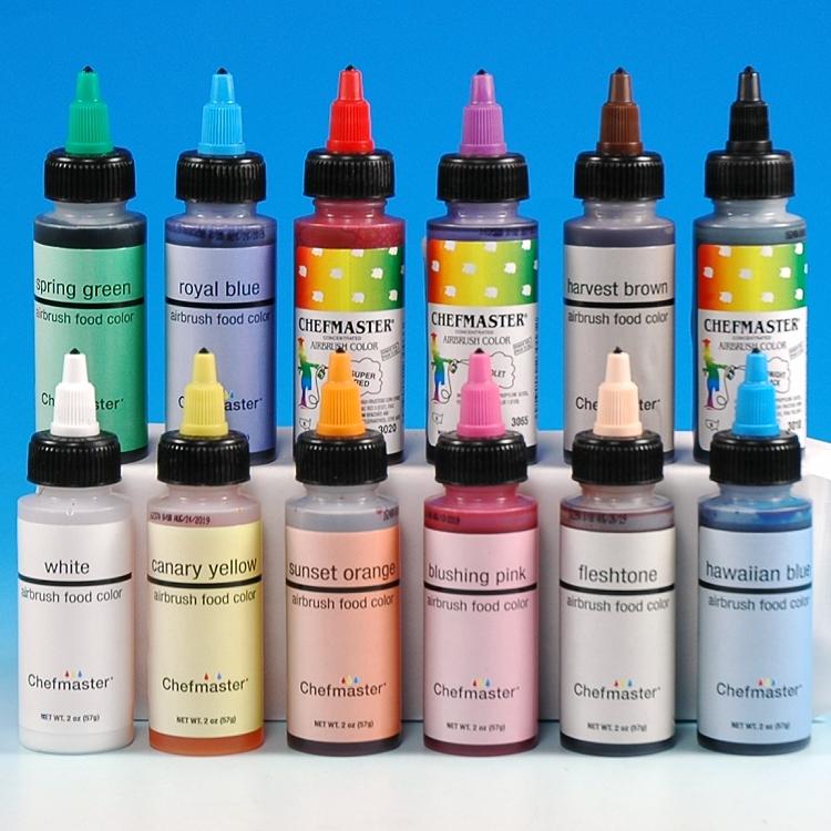 12 Color Airbrush Kit - 2 oz Bottles
