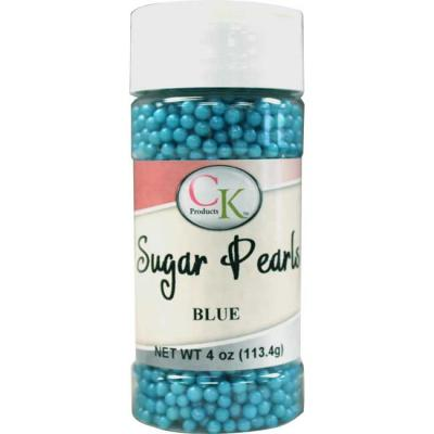 Blue CK Sugar Pearls for cakes, cookies and cupcakes.