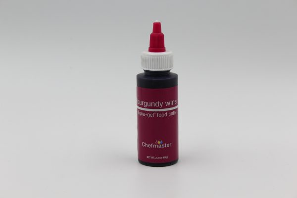 Burgundy Chefmaster liqua Gel for decorating buttercream, cakes and cookies