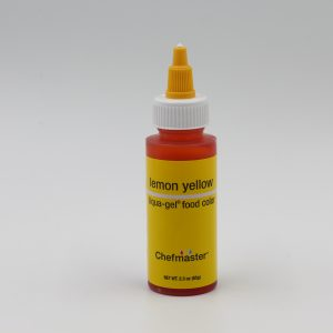 Lemon yellow Chefmaster liqua Gel for decorating buttercream, cakes and cookies