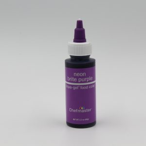 Neon Brite Purple Chefmaster liqua Gel for decorating buttercream, cakes and cookies