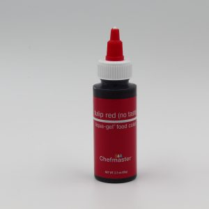 Tulip Red (no taste) Chefmaster liqua Gel for decorating buttercream, cakes and cookies