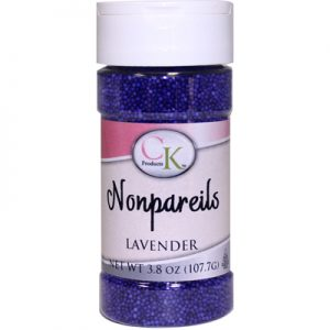Lavender CK Nonpareils for cake decorating, cookies, cupcakes and candy