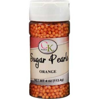 Orange CK Sugar Pearls for cakes, cookies and cupcakes.