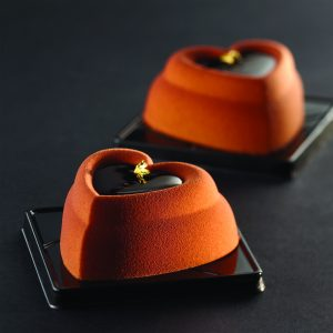 Heart Individual Dessert Mold for modern dessert
