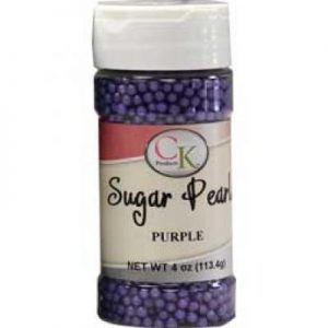 Purple CK Sugar Pearls for cakes, cookies and cupcakes.