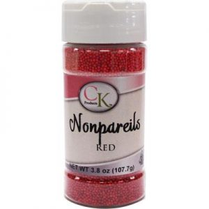 Red CK Nonpareils for cake decorating, cookies, cupcakes and candy