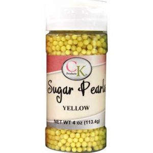 Yellow CK Sugar Pearls for cakes, cookies and cupcakes.