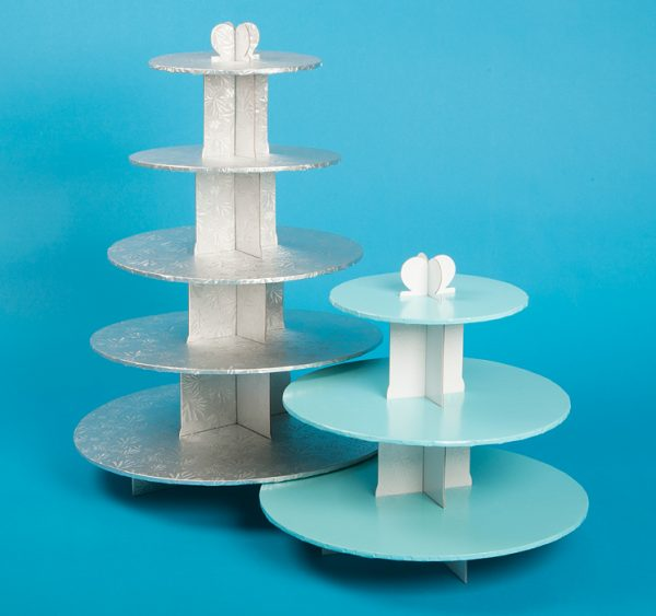 Disposable Cupcake Stands. 3 Tier and 5 Tier stands