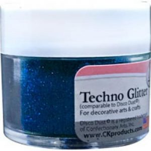 blue decorating sparkles for cakes and showpieces