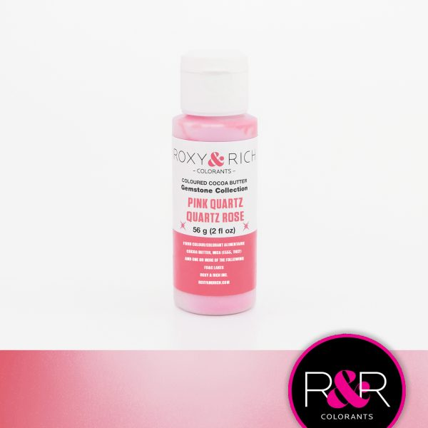 pink crystal colored cocoa butter