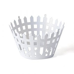 picket fence cupcake wrapper