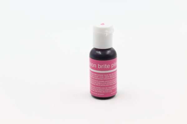 Neon Bright Pink food gel for cake decorating, cookies and desserts