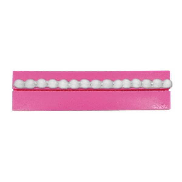 10mm silicone mold to create pearl border. use with fondant and gumpaste.