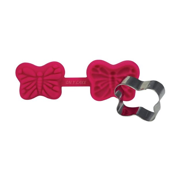 butterfly cutter and veiner. use with fondant, gumpaste, modeling chocolate