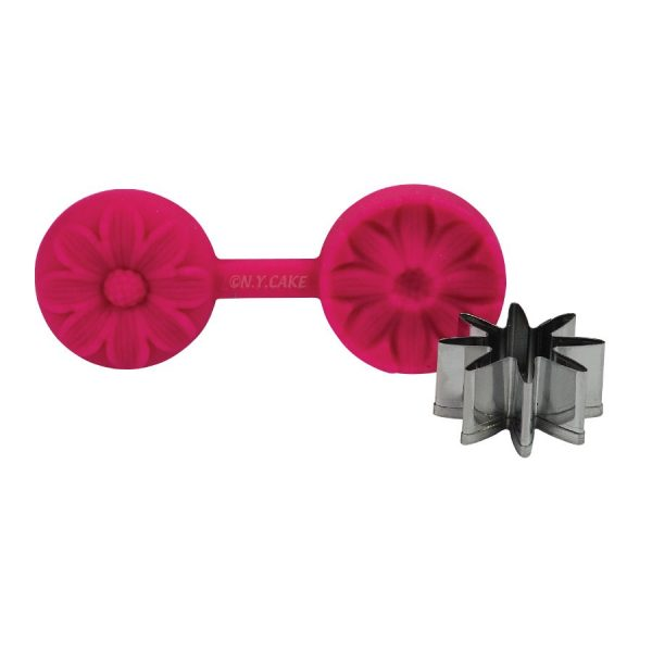 daisy flower cutter and veiner. perfect for fondant cakes and cupcakes