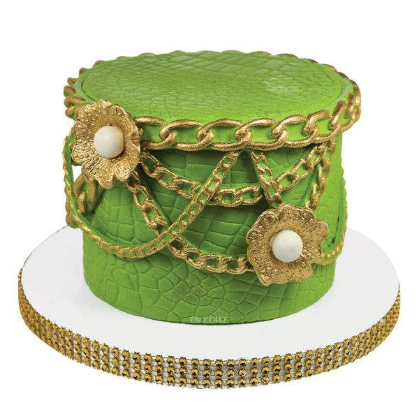 "design custom cakes with the 19"" long silicone mold chain. Perfect for cakes and shoes. purchase at create Distribution"