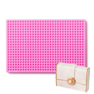 small pearl silicone mat for fondant, chocolate and gumpaste. Perfect to make purses, shoes and texture on cakes.
