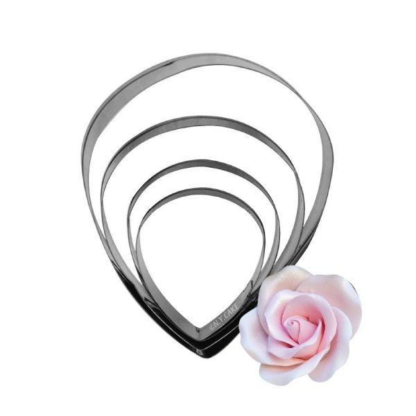 rose cutter. Set of 4 to make gumpaste roses