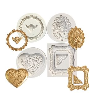 picture frame mould for fondant and cake decorating. place on cakes, cupcakes and chocolates.
