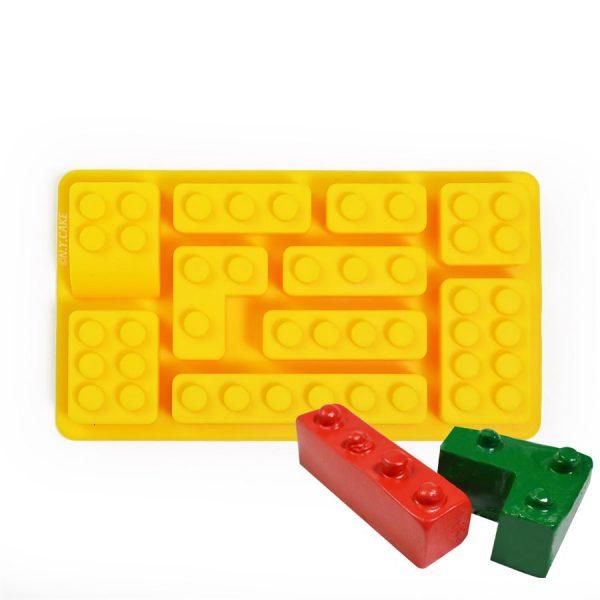 large lego mould. 10 cavity for chocolates, fondant, gumpaste