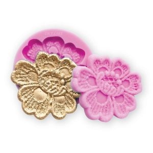 aurora silicone lace mold. prefect for cakes, cookies. USe with fondant, gumpaste or modeling chocolate.