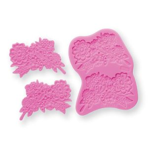 floral silicone mold for cake decorating