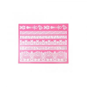 bonnie baby cake lace mat. ideal for baby theme cakes, cookies and cupcakes. Baby shower theme cake supplies