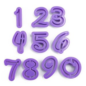 Disney style number cutter set