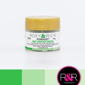 mint green fondust to colour fondant, buttercream, macarons