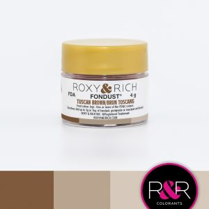 tuscan brown fondust to colour fondant. available at create distribution